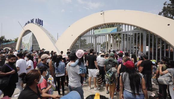 Gran cantidad de personas llegaron hasta el Parque de Las Leyendas. (Foto: Leandro Britto / @photo.gec)