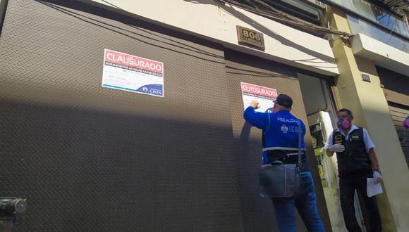 Los propietarios de los inmuebles fueron multados. (Municipalidad de Lima)