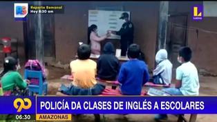 Policía da clases gratuitas de inglés a niños en Amazonas