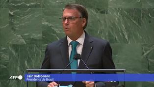 Presidente de Brasil dice en la ONU que está en contra el pasaporte sanitario