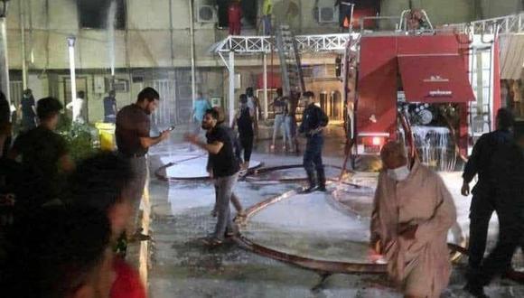 Irak: Al menos 27 muertos en incendio hospital de Bagdad para pacientes con COVID-19