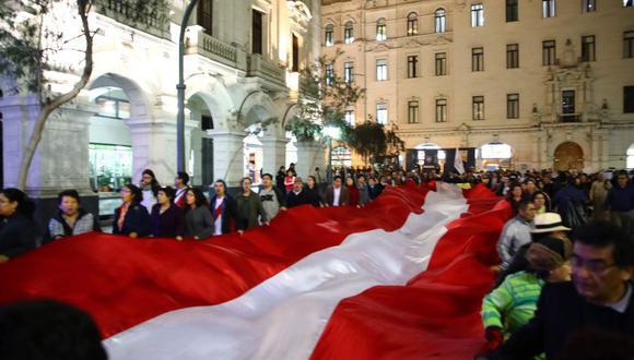 La marcha contra la corrupción partirá desde la plaza San Martín. (Perú21)