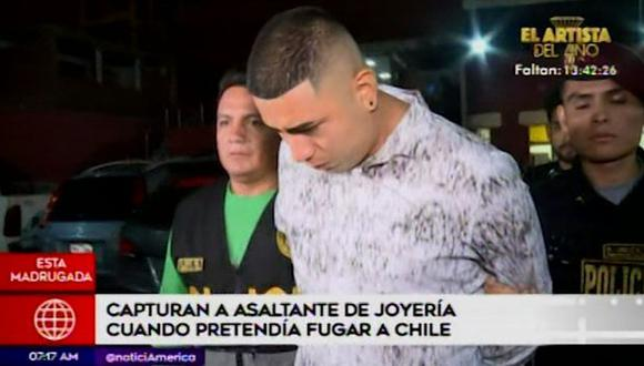Capturan a sujeto acusado de robar en joyería. (Foto: Captura de video América Noticias)
