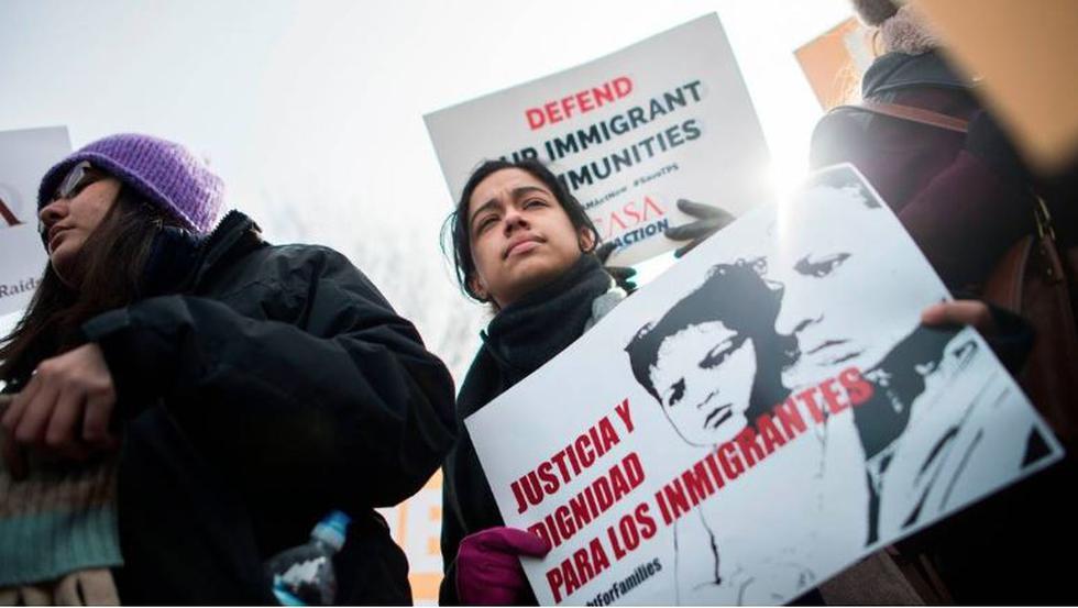 Un total de 57 mil hondureños, entre ellos, 7,800 residentes en Florida, corren el riesgo de ser deportados tras la cancelación  Estatus de Protección Temporal (TPS) en EE.UU. (AFP/Referencial)