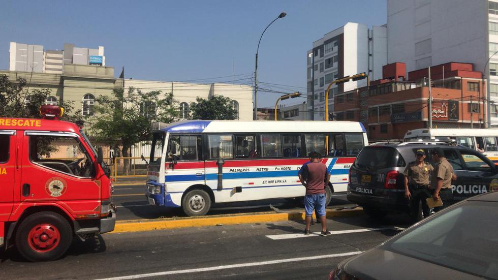 Accidente avenida Brasil
