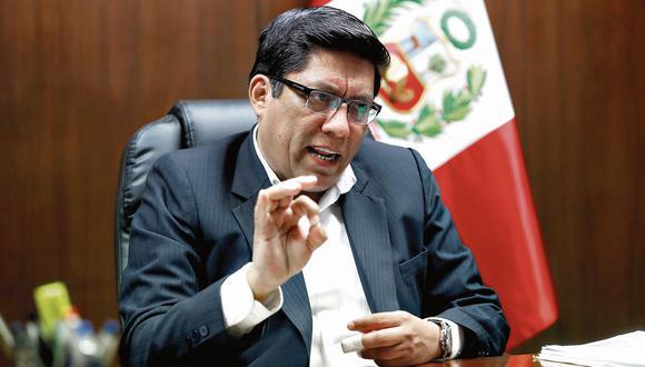 Vicente Zeballos. Ministro de Justicia y congresista no agrupado. (Mario Zapata)
