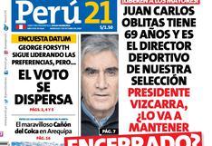 Juan Carlos Oblitas tiene 69 años y es el director deportivo de nuestra selección. Presidente Vizcarra, ¿lo va a mantener encerrado?