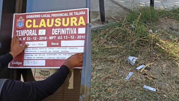 Piura: Clausuran laboratorio y encuentran desechos de pruebas rápidas COVID-19 en la calle. (Foto: MPP)