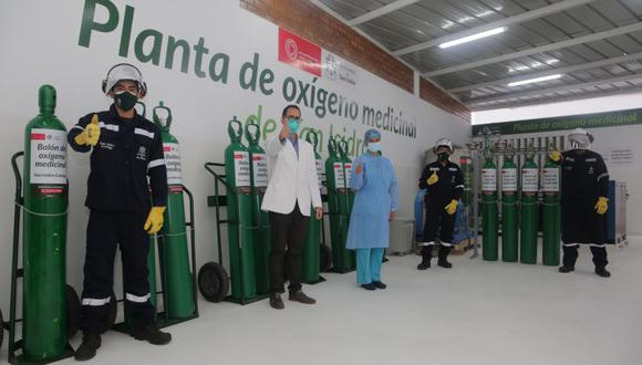 Inauguran nueva planta de oxígeno para recarga de balones de forma gratuita y servicio de delivery para vecinos del distrito. (Foto: Municipalidad de San Isidro)