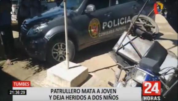 El accidente de tránsito ocurrió en el sector Los Olivos, en el caserío La Palma. (Foto: 24 horas)