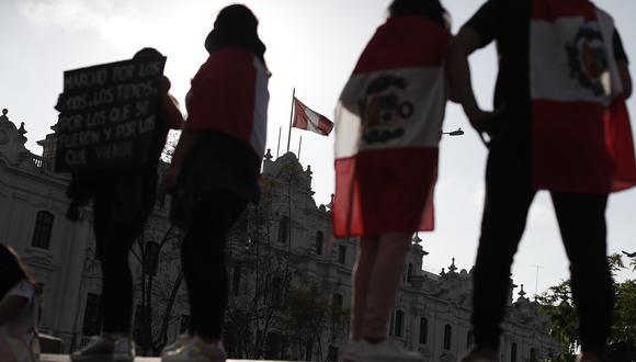LIMA, 14 DE NOVIEMBRE DEL 2020  SEGUNDA GRAN MARCHA NACIONAL CONTRA LA VACANCIA DEL EXPRESIDENTE MARTIN VIZCARRA Y LA ASUNCION DE MANUEL MERINO COMO PRESIDENTE DE LA REPUBLICA.  FOTOS: CESAR CAMPOS / GEC