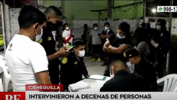 Policía intervino a decenas de personas que infringieron toque de queda y participaron en reuniones sociales. Foto: captura