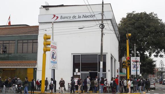 Banco de la Nación destaca las modalidades para cobrar el Bono Familiar Universal (foto referencial).