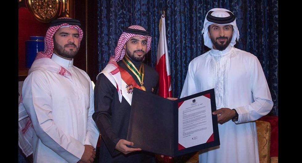 El empresario árabe se reunió con el príncipe de Baréin luego que se conociera su historia de ayuda en Perú. (Cortesía Yaqoob Mubarak)