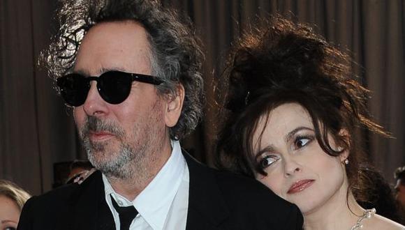 Tim Burton y Helena Bonham Carter. (AFP)