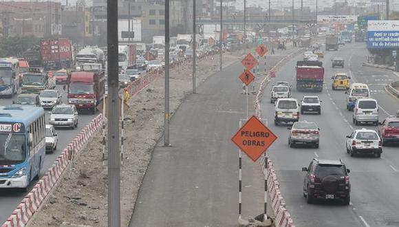 Habilitarán vía alterna tras cierre de Carretera Central por obras de Línea 2 (Foto referencial GEC)
