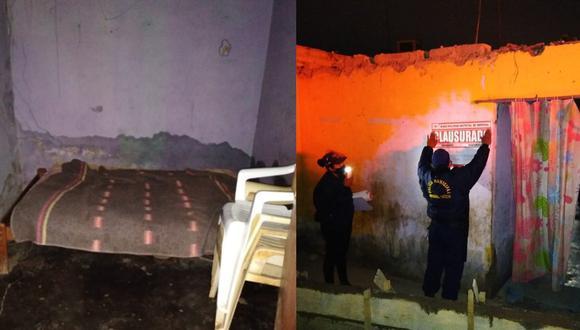 Autoridades encuentran a diez personas dentro de prostíbulo clandestino en Cañete