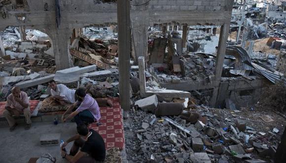 Ciudad de escombros. (AFP)