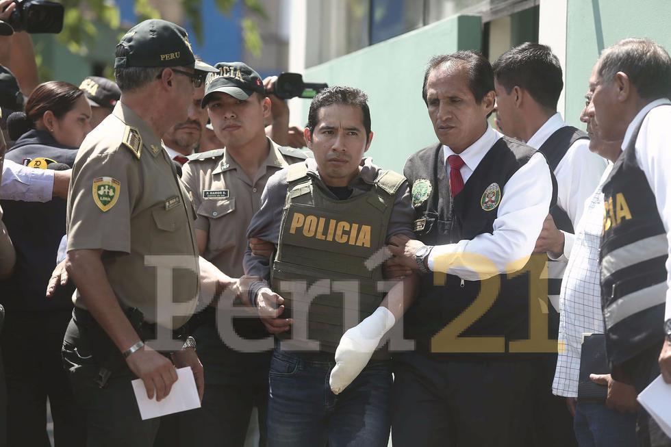 Carlos Javier Hualpa Vacas, presunto agresor de Eyvi Ágreda, niega ser el responsable del ataque. (César Campos/Perú21)