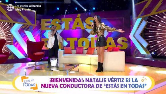 """Natalie Vértiz es la nueva conductora de """"Estás en todas"""". (Foto: Captura América TV)"""