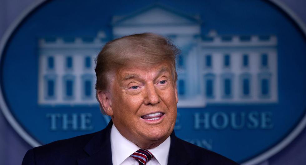 El presidente de los Estados Unidos, Donald Trump, habla en la Sala Brady Briefing en la Casa Blanca en Washington, el 5 de noviembre de 2020. (Brendan Smialowski / AFP).