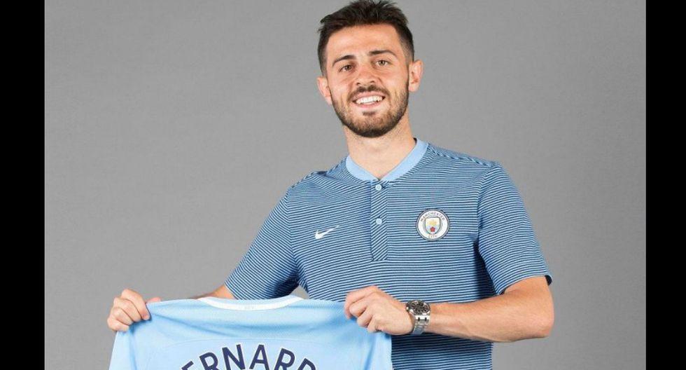 Bernardo Silva es uno de los fichajes del Manchester City. (Manchester City/Twitter)