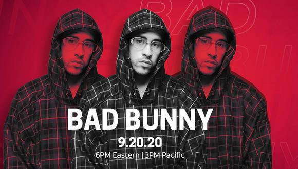 Bad Bunny tendrá un concierto online en YouTUbe con Uforia el próximo 20 de septiembre del 2020 (Foto: Uforia)