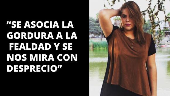 Paz Salgado habla sin tapujos de lo que es ser mujer y de talla grande en el Perú.