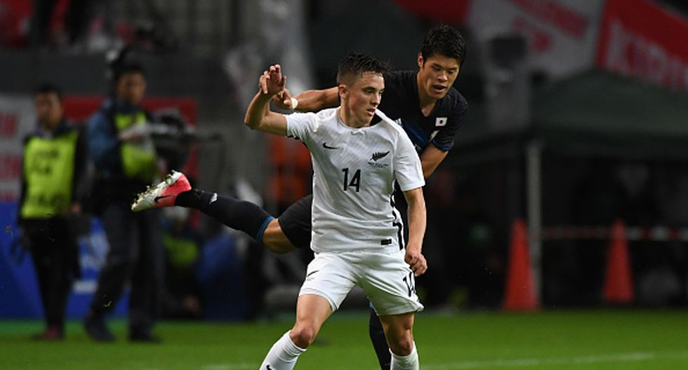Ryan Thomas es una joven figura de los 'kiwis' que promete un gran futuro. Tiene 22 años y juega en  PEC Zwolle de la Eredivisie -liga de Holanda-. (Getty Images)