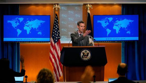 Portavoz del Departamento de Estado, Ned Price. (AFP)
