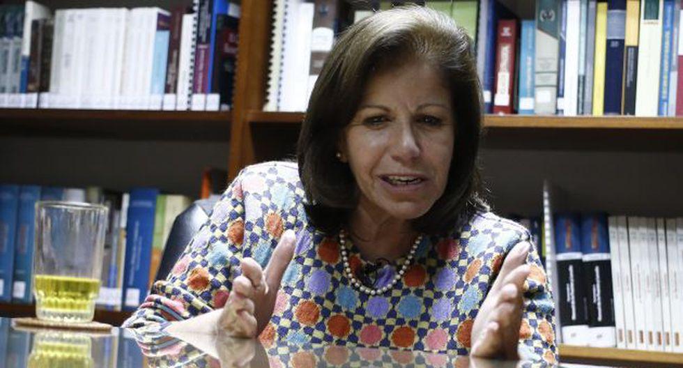 Lourdes Flores Nano ve con buenos ojos una posible alianza con el Apra. (César Fajardo)