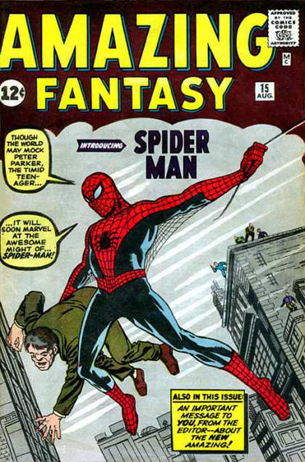 Amazing Fantasy 15, número en donde Peter Parker, el sorprendente Spider-man apareció por primera vez (Difusión).