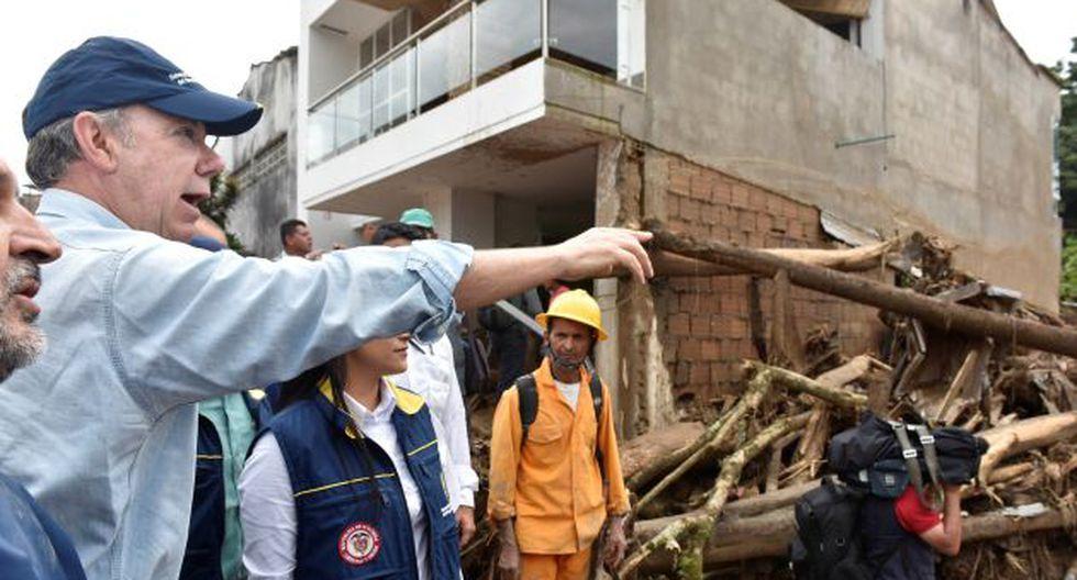 """""""Se requiere paciencia y templanza. Vamos a salir adelante. Colombia puede"""", agregó Santos. (Reuters)"""