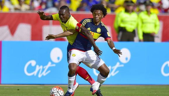 Ecuador viene de golear 3-0 a Trinidad y Tobago, mientras que Colombia se impuso por la mínima (1-0) a Perú en su penúltimo duelo de preparación del año en Miami. (Foto: AFP)