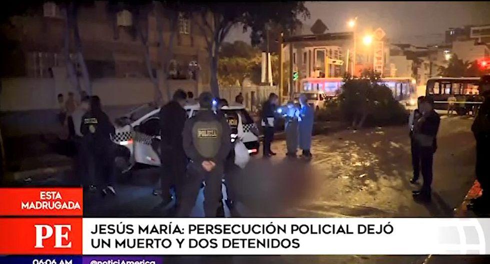 PNP informó que tanto el sujeto abatido como sus cómplices serían integrantes de la banda criminal denominada 'Los Toritos'. (Captura: América Noticias)
