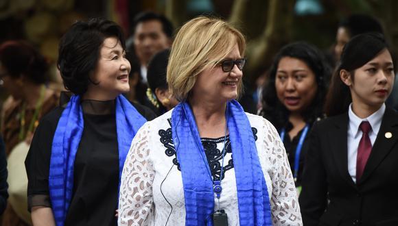 Ni una menos: Nancy Lange y su pronunciamiento acerca de la marcha. (AFP)