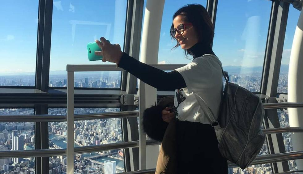 Melania Urbina disfruta sus vacaciones en Japón (Fotos: Instagram)