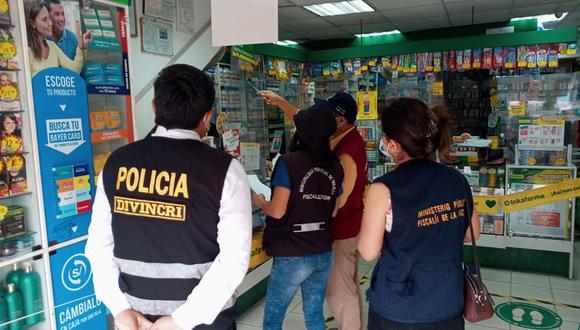 La Libertad. en algunos de los locales tenían stock de medicamentos esenciales genéricos para el tratamiento del COVID-19. (Foto:; Fiscalía)