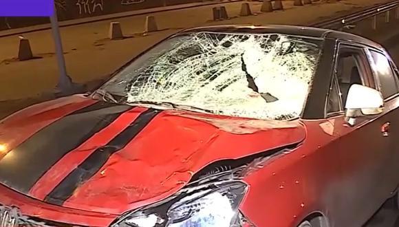 El conductor del vehículo fue trasladado a a comisaría. (Foto: Captura/Latina)