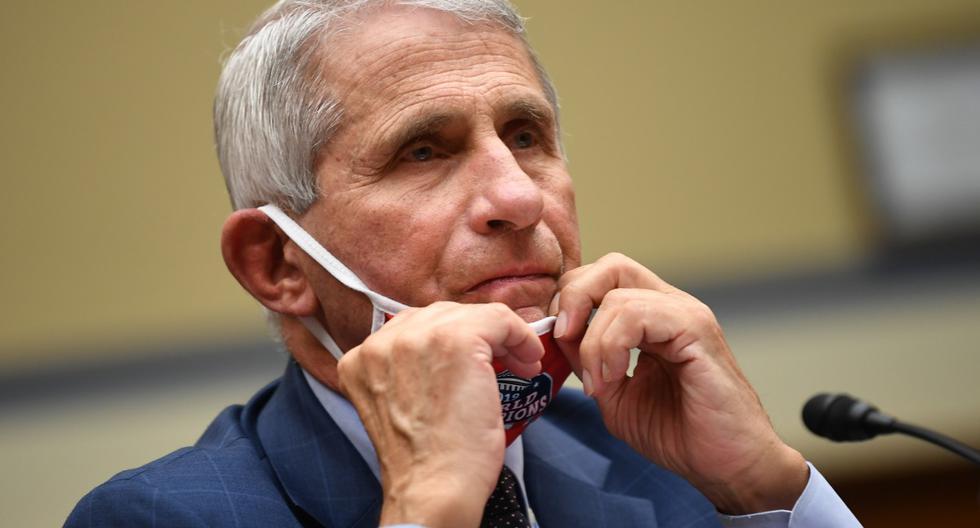 Anthony Fauci, experto en enfermedades infecciosas de Estados Unidos, testifica durante una audiencia del Subcomité de la Cámara sobre la crisis del Coronavirus en Washington. (KEVIN DIETSCH / Pool / AFP).