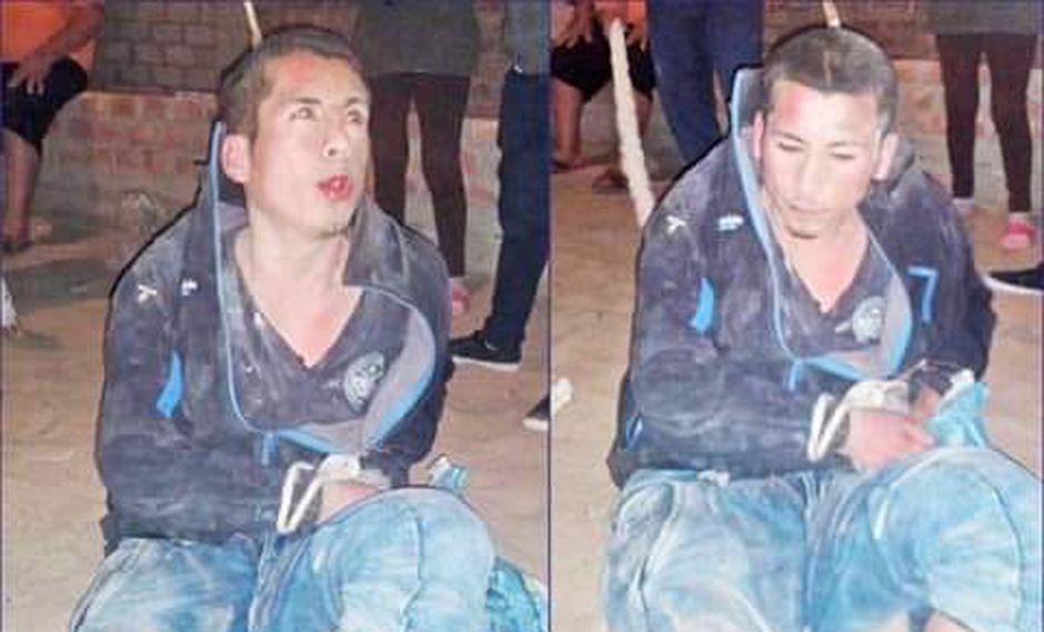 Un grupo de vecinos de la zona atraparon infraganti al sujeto. (Chevere Noticias TV/Chimbote)