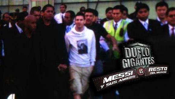 Messi llegó fuertemente escoltado. (Fernando Sangama/Depor)