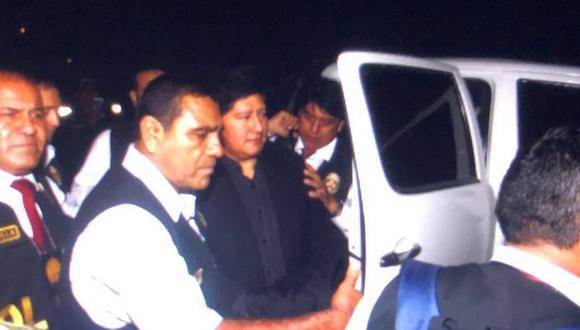Edwin Oviedo llegó a Chiclayo para cumplir los 18 meses de prisión preventiva. (Nadia Quinteros)
