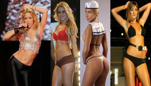 DESCONCENTRAN A CUALQUIERA. Shakira, Leslie Shaw, la chilena 'Coté' López, Tilsa. (Agencias/USI)