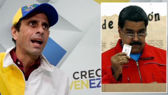 Henrique Capriles acusó a Nicolás Maduro de comprar votos. (AFP/Reuters)