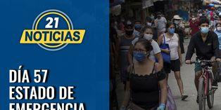 Coronavirus en Perú: Día 57 de estado de emergencia nacional