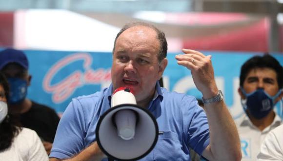 Rafael López Aliaga busca no ser investigado por presunto lavado de activos. (Foto: Lino Chipana / El Comercio)