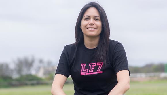 """""""Necesitamos cortar la brecha de desigualdad (...). Existe mucha violencia contra la mujer y es necesario cambiarlo con educación"""", dice Sisy Quiroz (Ligas femeninas F7)."""
