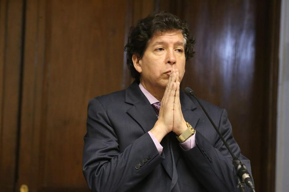 Noguera es investigado por la fiscalía por la presunta comisión del delito de patrocinio ilegal, en agravio del Estado peruano. (Foto: Congreso de la República / Video: Justicia TV)