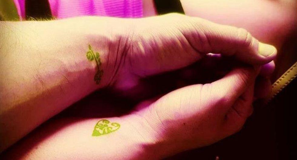 Christian Domínguez y 'Chabelita' simbolizan su amor con tatuajes. (Instagram Christian Domínguez)